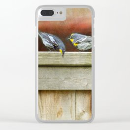 Two Warblers on The Fence Clear iPhone Case