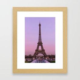 Eiffel Rose Framed Art Print