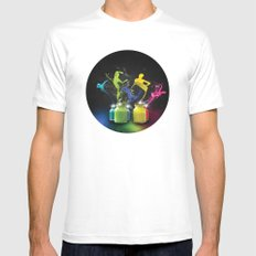 Paint Dancers Mens Fitted Tee White MEDIUM