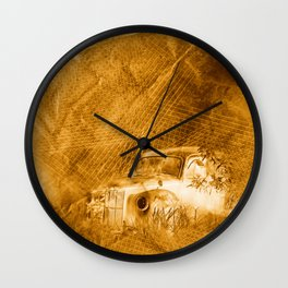 Ghost driver in the rust Wall Clock