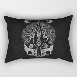 Gungnir - Spear of Odin and Tree of life  -Yggdrasil Rectangular Pillow