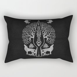 Gungnir - Spear of Odin and Tree of life  -Yggdrasil Rectangular Pillow