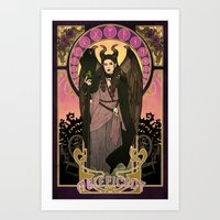 maleficent Art Prints featuring Maleficent by Madeoftin