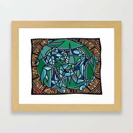Bushel of Crabs Framed Art Print