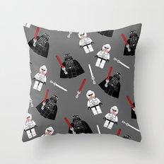 Darth-Gray Throw Pillow
