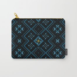 psychedelic upgrade ancient nordic embroidery Carry-All Pouch