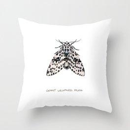Giant Leoprd Moth Throw Pillow