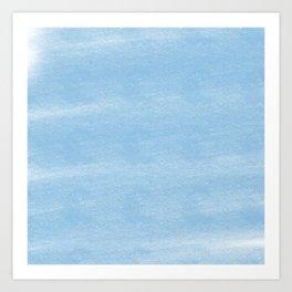 Chalky background - blue Art Print