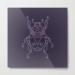 Neon beetle Metal Print