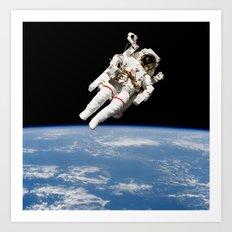 Astronaut Floating Free Art Print