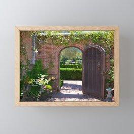 door to the gardens Framed Mini Art Print