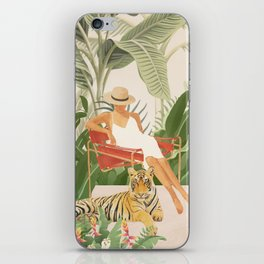 The Lady and the Tiger II iPhone Skin