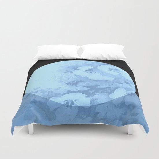 blue moon floral Duvet Cover