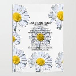 Daisy Flower with Christian Faith Base Poem Poster