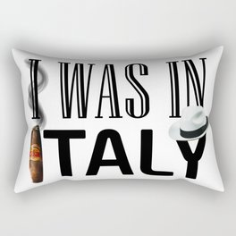 I Was In Italy Rectangular Pillow