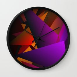 Smoke Screen Abstract 2 Wall Clock
