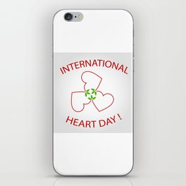 International Heart Day iPhone Skin