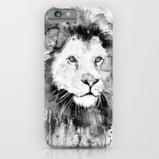 Black and white lion iPhone 6s Slim Case