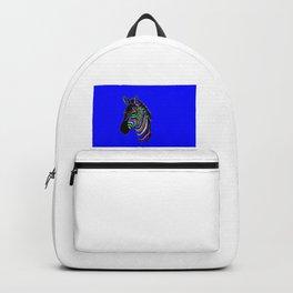 Neon Colourful Zebra Backpack