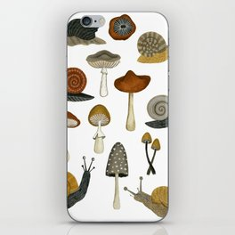 mushrooms and snails iPhone Skin