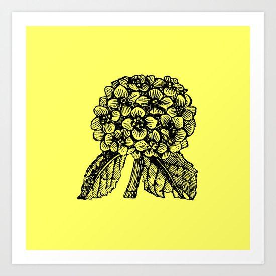 Yellow Hydrangea Art Print