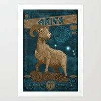 Zodiac 1: Aries Art Print