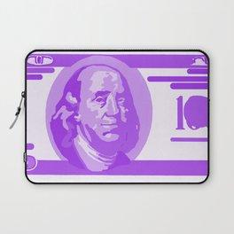 BIG PURPLE 100 DOLLAR BILL BEN FRANKLIN $$$ Laptop Sleeve