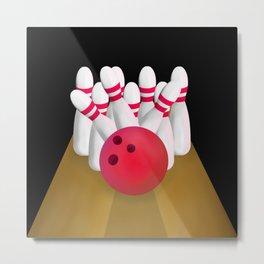 Tenn Pin Bowling STRIKE Metal Print