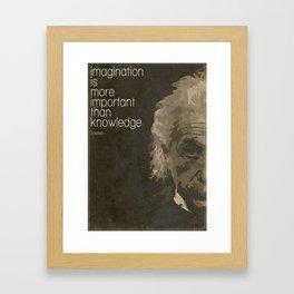 Einstein retro minimalist Framed Art Print