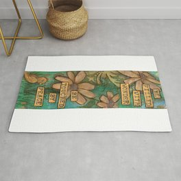 Be Filled with Wonder, Be touched by Peace Rug