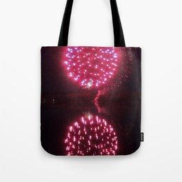 Big Red Fireballs Tote Bag