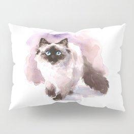 Watercolor Siamese Cat Pillow Sham