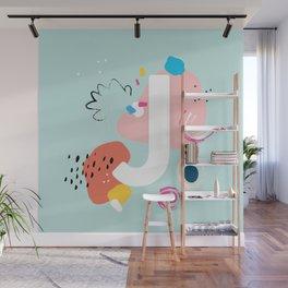 J Monogram Wall Mural