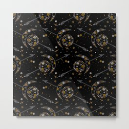 Celestial bohemian pattern in tribal style Metal Print