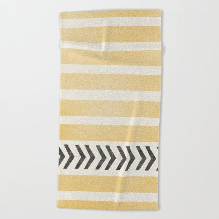 STRIPES AND ARROWS Beach Towel