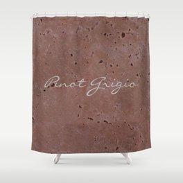 Pinot Grigio Wine Red Travertine - Rustic - Rustic Glam - Hygge Shower Curtain