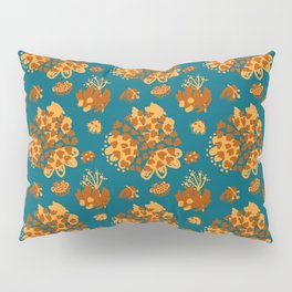 Bold abstract flowers and shapes pattern Pillow Sham