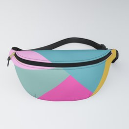 Abstract Geometry in Bold Bright Color Fanny Pack