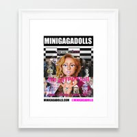 artrave Framed Art Prints featuring artRAVE minigadolls by Sergiomonster