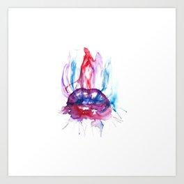 Blowing smoke Art Print
