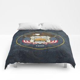 Flag of Utah, Grungy Retro Style Comforters