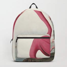 Pink Flamingo from Birds of America (1827) by John James Audubon (1785 - 1851 ), etched by Robert Havell (1793 - 1878) Backpack