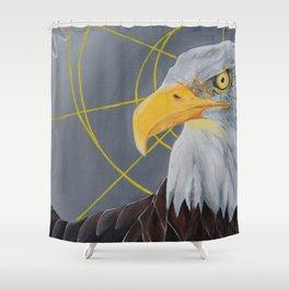 crazy eye eddie Shower Curtain