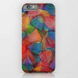 Multicolor Leaves iPhone Case