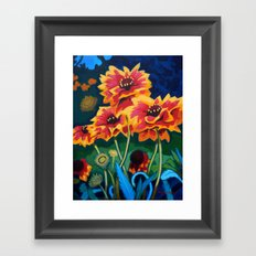 Gaillardia Flowers Framed Art Print