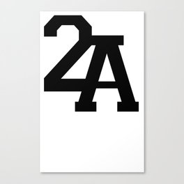 2A in Black Canvas Print