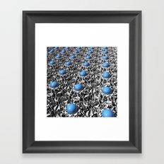 3D Turquoise Gemstones Framed Art Print