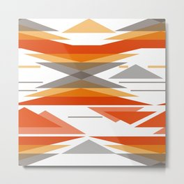 An abstract geometric pattern . Metal Print