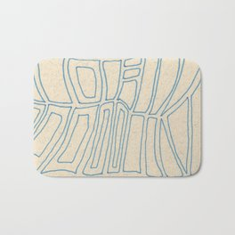 Blue Line Abstract Bath Mat