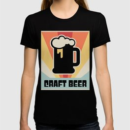 Vintage Style CRAFT BEER Poster T-shirt